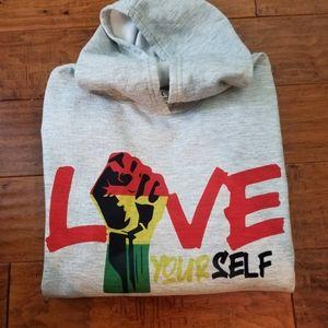 Love yourself hoodie black power